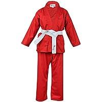 Norman Rot Kinder Karateanzug Gratis Weißen Gürtel Kinder Karateanzug
