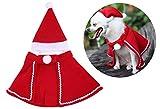 Fontee® Cane Natale Rosso Mantello Velluto Mantelle in Costume per Cucciolo e Cappello Natalizio per Animale Domestico