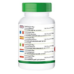 FairEnzym Plus, enzyme complex, contains rutin, bromelain, trypsin and chymotrypsin, 100 DRCaps®