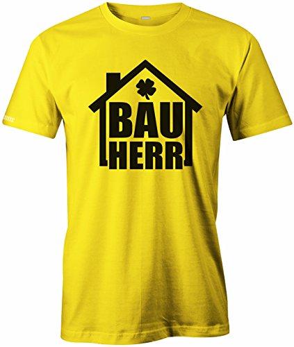 Bauherr - Bau Herr - HERREN T-SHIRT Gelb
