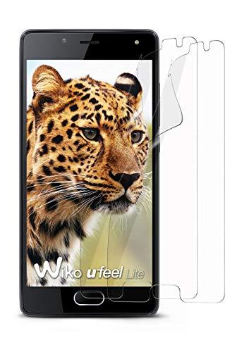 moex 2X Wiko U Feel Lite | Schutzfolie Klar Bildschirm Schutz [Crystal-Clear] Screen Protector Display Handy-Folie Dünn Bildschirmschutz-Folie für Wiko U Feel Lite Bildschirmfolie