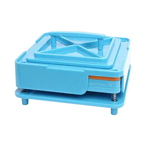 Healifty Second Generation Leere Kapselteller Halter 100 Löcher Füllplatte Füllwerkzeug Set mit Podwer Block Board für Tabletten Kaffee Kapsel (blau)