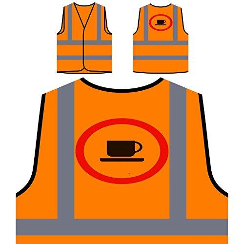 Nicht erlaubt Kaffee Zeichen Funny Vintage Cal Personalisierte High Visibility Orange Sicherheitsjacke Weste c644vo (Zeichen Vintage-kaffee)