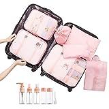 Overmont 7 en 1 set de bolsa organizador de maleta equipaje impermeable...