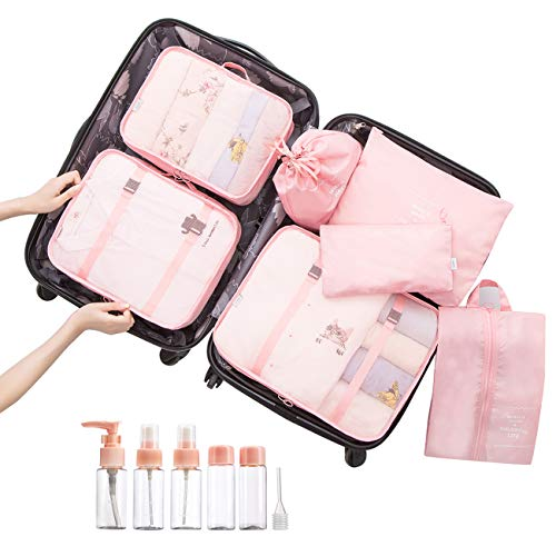 Overmont 7 en 1 set de bolsa organizador de maleta equipaje impermeabl