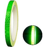 TrifyCore Cinta Reflectante Adhesiva Pegatina Seguridad Alta Intensidad Pegatina Autoadhesivo Seguridad Advertencia para Coche Camión 8m Verde
