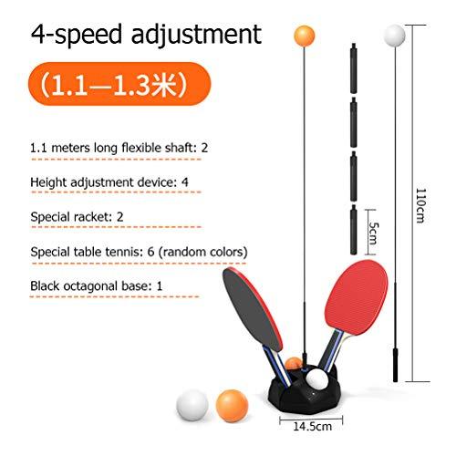 Yissma Tischtennis-Trainer für drinnen und draußen,Einzel Tischtennistrainer Set für Erwachsene/Teenager/Kinder/Kinder, elastisch, Weiche Achse, Ping-Pong-Ball, Training