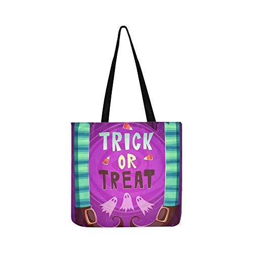 Hexe Beine Halloween Poster Karte Leinwand Tote Handtasche Schultertasche Crossbody Taschen Geldbörsen für Männer und Frauen ()