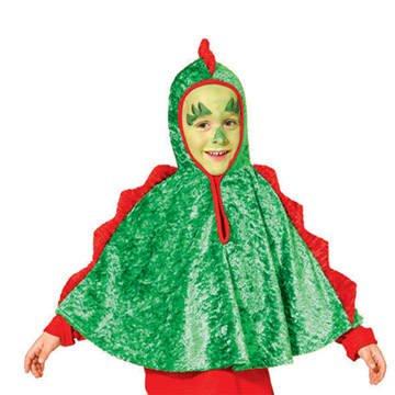 Kinder Und Kleinkind Kostüm Plüsch Drache - PARTY DISCOUNT Kleinkind-Cape Drache, Einheitsgröße bis Gr. 104