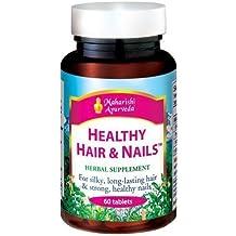Healthy Hair and Nails. supplemento nutrizionale per il trattamento dei capelli e le unghie e capelli grigi (MA953), costituiti da piante per combattere la caduta dei capelli, Rimedi naturali forfora, stimolare la crescita dei capelli, Supplemento naturale 60 compresse 500 mg