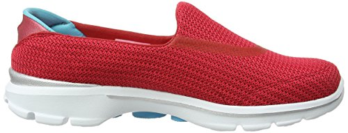Skechers Go Walk 3, Sneakers Basses Femme Rouge (Rdbl)
