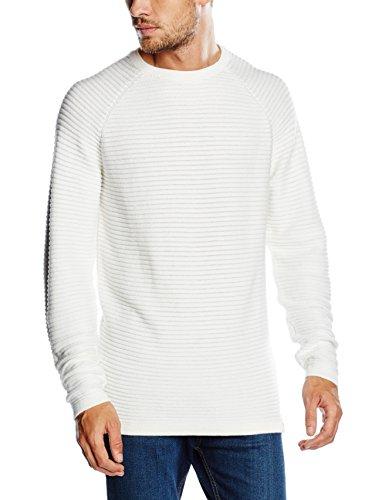 JACK & JONES Herren Pullover Jcowind Knit Crew Neck Noos Weiß (Blanc De Blanc Fit:Knit Fit)