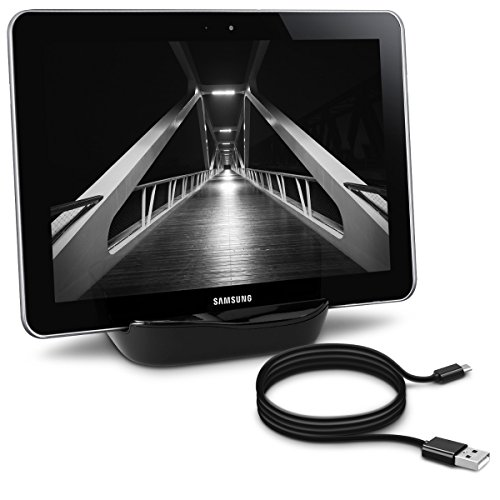 kwmobile Dockingstation für Samsung Galaxy Tab 1/2 10.1/Tab 2 7.0/Note 10.1 Schwarz - edles Design.