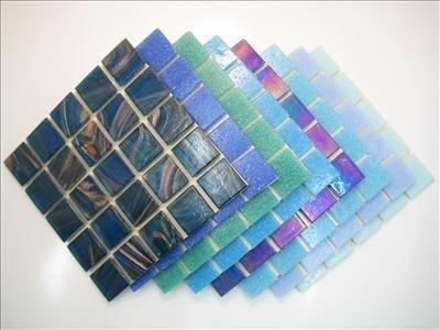 Mosaico Piastrella Miscela 2cm x 4mm spesso. Deluxe Miscela Blu 200 piastrella Mix - Mix Piastrelle