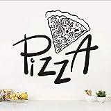 captain_y Cocina Pizzería Etiqueta De La Pared Pizza Restaurante Hotel Pizza Tienda Ventanas Decoración De Vidrio Hogar Gabinete Azulejo Tallado Vinilo Pegatinas De Pared
