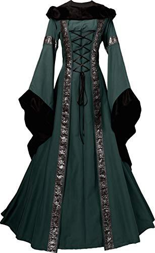 Dornbluth Damen Mittelalter Kleid Sarah (36/38, Braun-Safran)