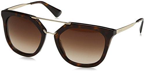 Prada Damen 0PR13QS 2AU6S1 54 Sonnenbrille, Braun (Havana/Brown),