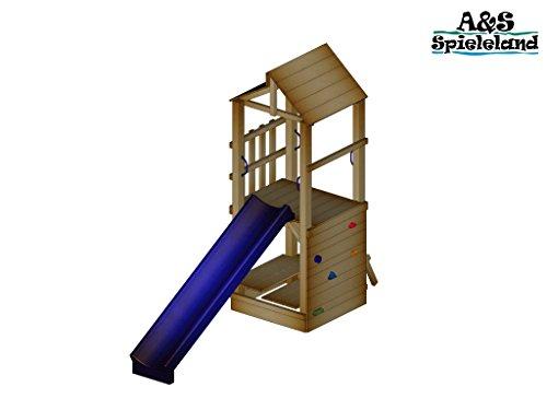 Spielturm CHRIS 2.0 Podesthöhe 120cm mit 2,4m Wellenrutsche