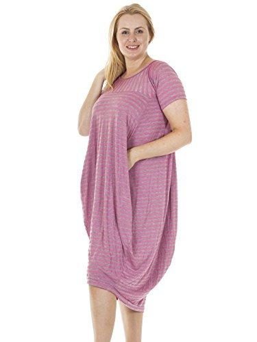Love My Fashions Damen Kleid Kleid Fuchsia