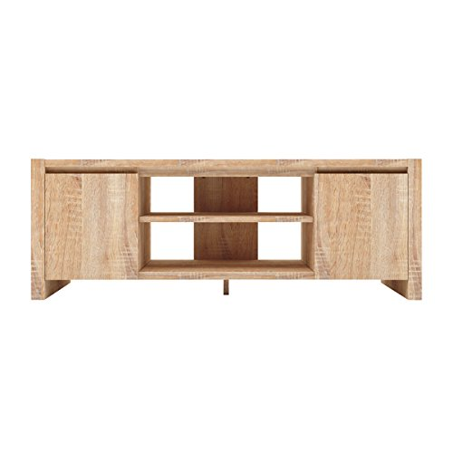 Furniture 247 - Mueble para la televisión contemporáneo con 2 alacenas - roble natural