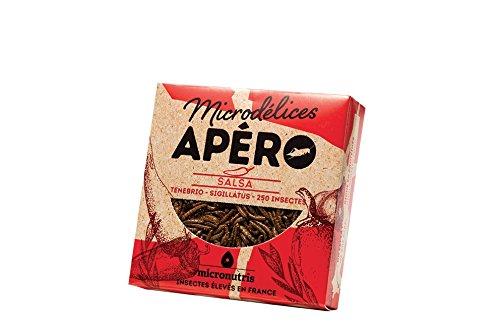 Micronutris Insectes comestibles - Apéro 250 Salsa mélange de grillons et vers de farine