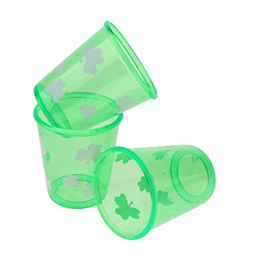 Fenteer 3stk. Lustige Schnapsgläser Schnapsbecher Trinkbecher Plastikbecher für St Patricks Day und Party
