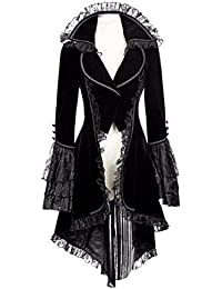199fe3941b37 Damen Steampunk Gothic Long Coat,Dasongff Frack Mantel Retro Jacke Barock  Punk Kleidung Vintage Viktorianischen
