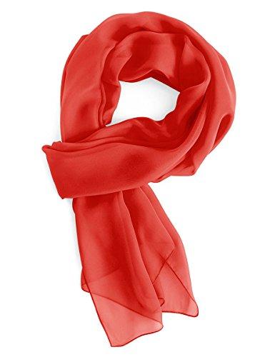 Gardenwed Damen Chiffon Schal Tücher Stola Scarves für Brautkleider Abendkleider in 28 Farben Red S