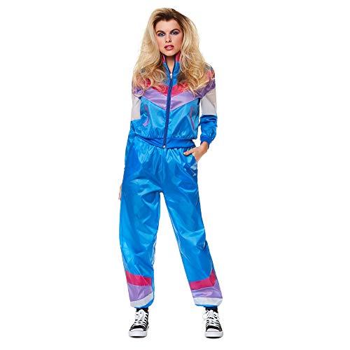 Kostüm Frauen 1980 - Karnival 813311980Damen Shell Suit Kostüm, Frauen, blau, mittel