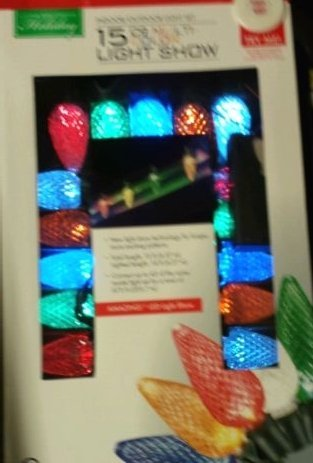 Set of 15 Multi Color LED Faceted C9 Christmas Light