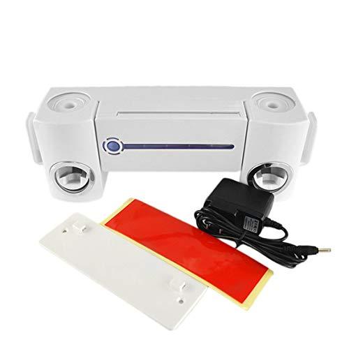 JohnJohnsen Práctica Antibacterial luz Ultravioleta UV Cepillo de Dientes Dispensador esterilizador Titular de baño Cepillo de Dientes Limpiador con 2 Tazas (Blanco)