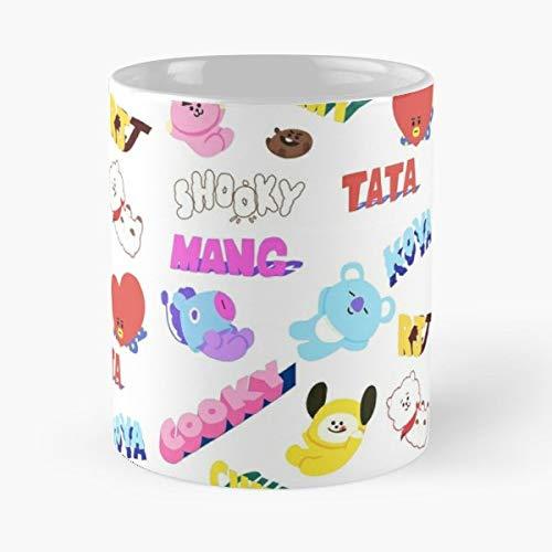B-t21 Line Friends Mang Shooky Chimmy Koya Tata Cooky Rj Classic Mug Best Gift For Your Friends