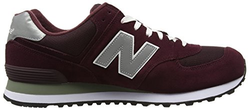 New Balance M_w574, Scarpe da Ginnastica Basse Uomo Multicolore (Red/Grey/White)