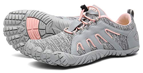 Scarpe da Trekking Uomo Donna Sportive Corsa Trail Running Sneakers Fitness Casual Basse Estive Running all'Aperto Ginnastica grigio/rosa38