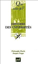 Que sais-je ? Histoire des universités