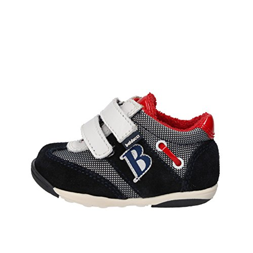 BALDUCCI sneakers bambino blu bianco rosso camoscio tessuto pelle AG929 (18 EU)