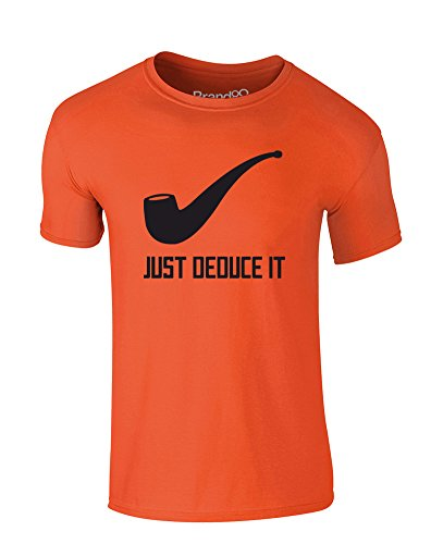 just-deduce-it-kind-druckten-t-shirt-orange-schwarz-9-11-jahre