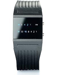 """St. Leonhard Binäre Uhr: Binär-Armbanduhr """"Future Line"""" mit blauer Anzeige, für Herren (LED Binär Uhren)"""