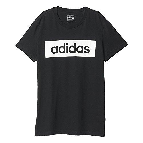 Adidas Lin Tee T-Shirt Da Training Uomo - Nero (Nero/Bianco) - L