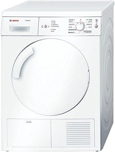 Bosch WTE84105GB Freestanding Front-Load B White - Tumble Dryer 7 kg (Freestanding, Front Loading, Condensation, White, Buttons, Rotary, Right)