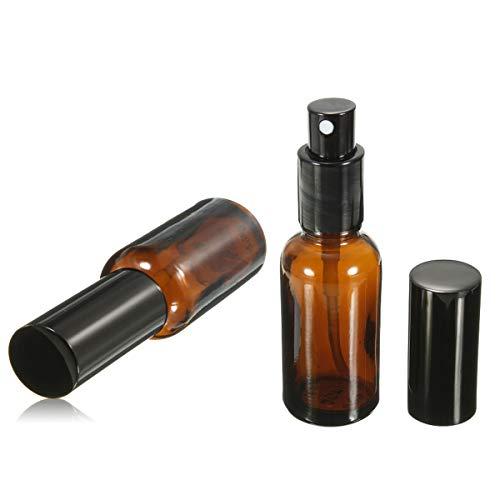 DaoRier Wasser Sprühflasche Bernsteinfarbenen Glas Nachfüllbare Lauf Nachfüllbarer Parfüm Flaschen Leer Set Portable Parfümzerstäuber für Kosmetik Lotion, ätherisches Öl, Parfüm (50ml) -