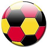 GUMA Magneticum - Calamita con pallone da calcio con colori della bandiera tedesca, diametro 5 cm