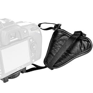 Mantona First Class Leder-Handschlaufe / Handgriff (mit Klickverschluss)