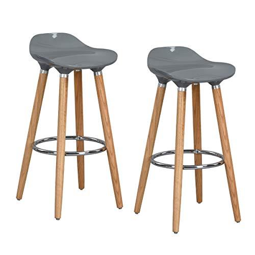 FurnitureR set di 2 sgabelli da bar, sgabello da banco stile moderno ...
