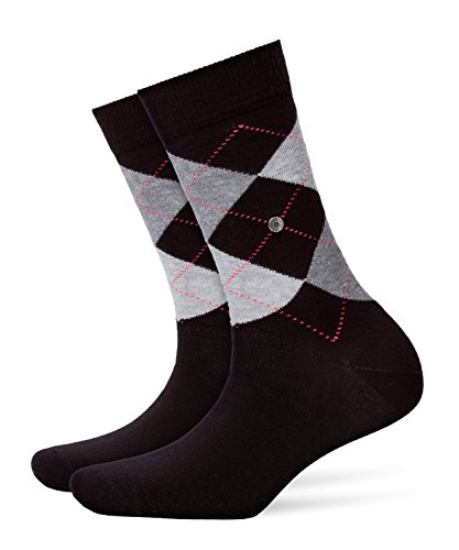 Burlington Damen Strick Socken Queen, Schwarz (black 3000), 36/41