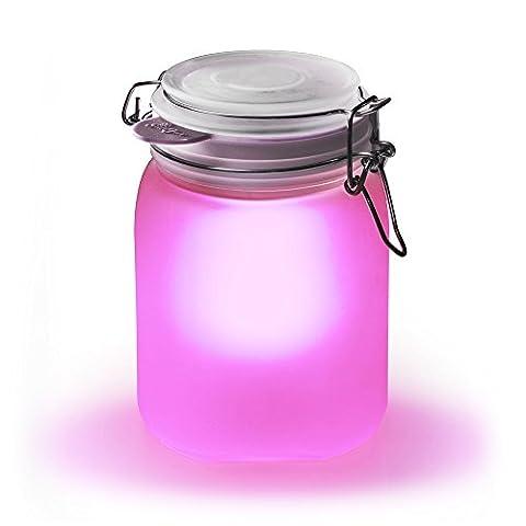 "SUCK UK Solarleuchte ""Sun Jar"" – rosa"