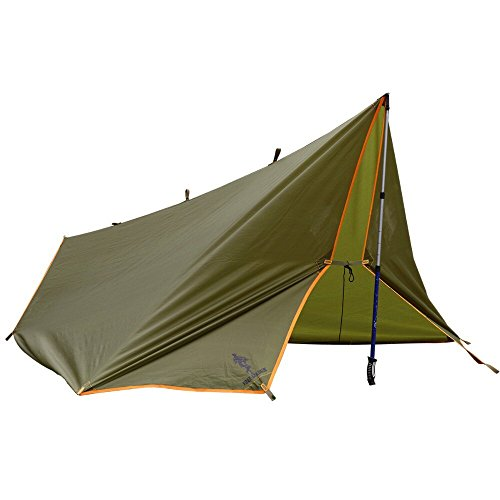 FREE SOLDIER Outdoor Sports Hiking Camping Awning Waterproof Portable Multifunctional Awning Traveling Tent Tarp Shelter Sunshade Awning (Wolf Brown)