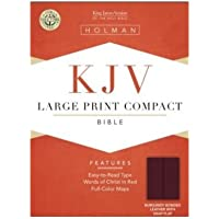 Cornerstone Bible King James Version: Burgundy Bonded Leather Compact Snap Flap