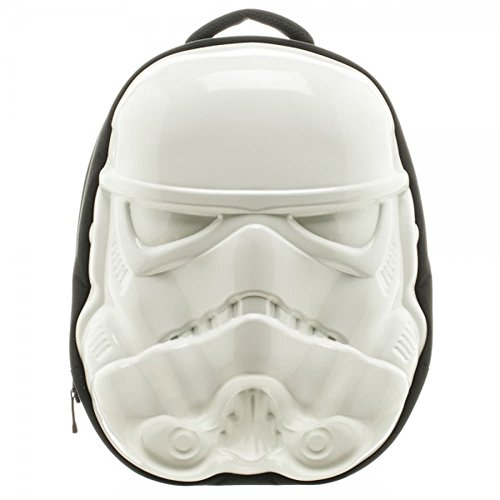 Sac à dos 3D Star Wars Stormtrooper Face Molded Backpack Bioworld Officiel 40 x 33 cm