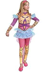 Ciao Rose Cinderella armadura traje Regal Academy niña, 8-10años, Rosa, Amarillo, Azul, 11194.8-10